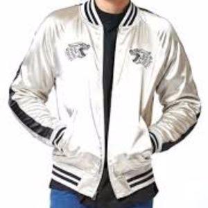 PacSun Satin Reversible Jacket - Black/Cream